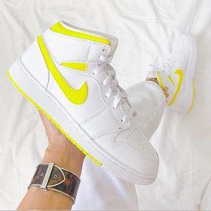 Nike custom painted air jordan 1 mid sneakers